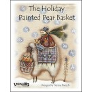 Holiday Painted Pear Basket
