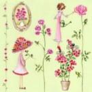 Jardinage (roses et fille)