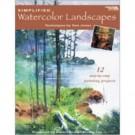 Simplified Watercolor Landscapes