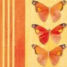 Trois papillons (orange)