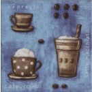 Tasses de Café (Bleu)