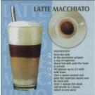 Verre de Café Latté (Bleu)