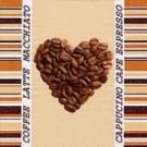 Cœur en grains de café
