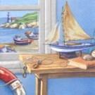 Petit bateau sur une table