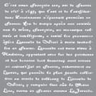 Pochoir - Texte en vieux français