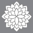Pochoir - Fleur