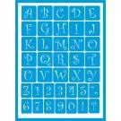 """Pochoir Adhésif - Alphabet Ondulé 0.75"""""""