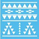 Pochoir - Aztèque