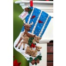 Bucilla Bas de Noël - Famille de rennes