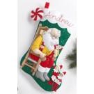 Bucilla Bas de Noël - Père Noël et Lutins