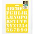 """Pochoir - Alphabet Basique 1"""""""