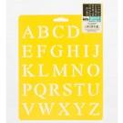 "Pochoir - Alphabet Times 1"""