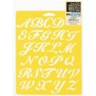 "Pochoir - Alphabet Script 1"""