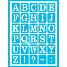 Pochoir Adhésif - Alphabet quotidien