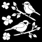 Pochoir - Oiseaux