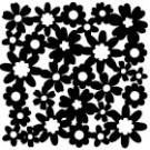 Pochoir - Motif floral vaporeux