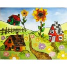 Patron - Des maisons et des fleurs