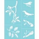 Pochoir - Oiseaux & Branches