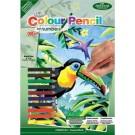 Crayon à colorier par # mini - Tropical Birds