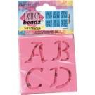 Fashion Beadz 3D Stencil - Alphabet