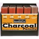 General Crayon Fusain Blanc