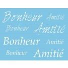 Pochoir - Bonheur - Amitié