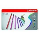 Stabilo - Pen 68 - Boite en métal (50)