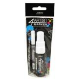 Marqueur 4artist - 2mm + 8mm - Duo Blanc